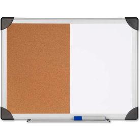 "Lorell Dry Erase/Cork Combination Board, 36""W x 24""H"