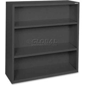 """Lorell Fortress Series 3-Shelf Bookcase, LLR41285, 13""""W x 34-1/2""""D x 42""""H, Black"""