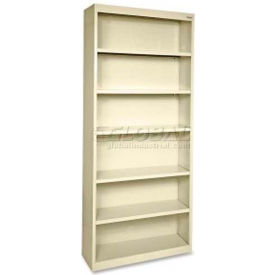 "Lorell Fortress Series 6-Shelf Bookcase, LLR41293, 13""W x 34-1/2""D x 82""H, Putty"