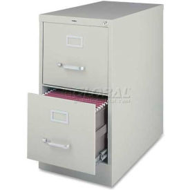 "Lorell® 2-Drawer Commercial-Grade Vertical File Cabinet, 15""W x 22""D x 28""H, Gray"