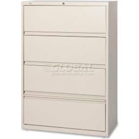 """Lorell 4-Drawer Lateral File, LLR43510, 36""""W, Putty"""