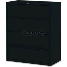 "Lorell 4-Drawer Lateral File, LLR43515, 42""W, Black"