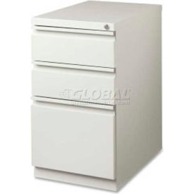 "Lorell 3-Drawer Mobile File Pedestal, LLR49522,15""W x 19-7/8""D x 27-3/4""H, Light Gray"