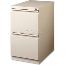 "Lorell 2-Drawer Mobile File Pedestal, LLR49523,15""W x 19-7/8""D x 27-3/4""H, Putty"