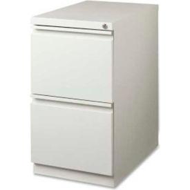 "Lorell 2-Drawer Mobile File Pedestal, LLR49525,15""W x 19-7/8""D x 27-3/4""H, Light Gray"