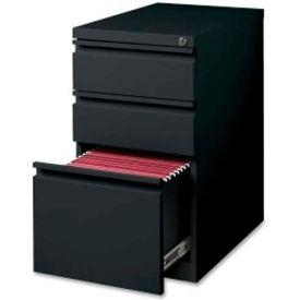 """Lorell 3-Drawer Mobile File Pedestal, LLR49527,15""""W x 22.9""""D x 27-3/4""""H, Black"""
