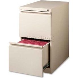 "Lorell 2-Drawer Mobile File Pedestal, LLR49529,15""W x 22.9""D x 27-3/4""H, Putty"