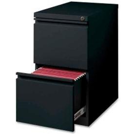 """Lorell 2-Drawer Mobile File Pedestal, LLR49530,15""""W x 22.9""""D x 27-3/4""""H, Black"""