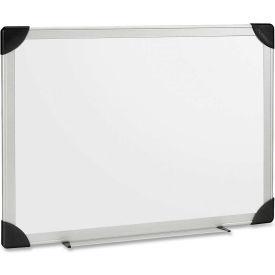 "Lorell Dry-Erase Board, White Coated Styrene, Aluminum Frame, 72""W x 48""H"