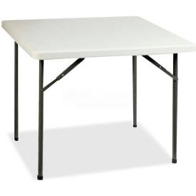"Lorell® Banquet Folding Table, 36""L x 36""W x 29""H, Platinum"