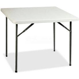 "Lorell® Banquet Folding Table, 36""L x 36""W x 29""H, Platinum"