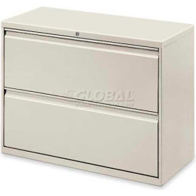 """Lorell® 2-Drawer Lateral File Cabinet, 42""""W x 18-5/8""""D x 28""""H, Gray"""