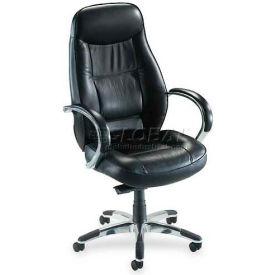 "Lorell® Ridgemoor Executive High-Back Chair, 26-1/2""W x 29""D x 49-1/4""H, Black"