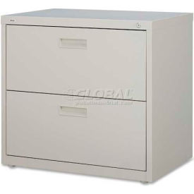 """Lorell® 2-Drawer Lateral File Cabinet, 30""""W x 18-5/8""""D x 28""""H, Putty"""