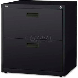 """Lorell® 2-Drawer Lateral File Cabinet, 30""""W x 18-5/8""""D x 28""""H, Black"""