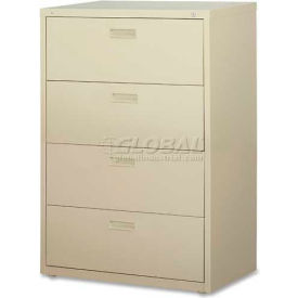 "Lorell® 4-Drawer Lateral File Cabinet, 30""W x 18-5/8""D x 52-1/2""H, Putty"