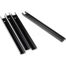 Lorell Front To Back Rail Kit, LLR60565, 4/Box, Black