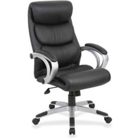 Lorell High-Back Executive Chair, LLR60621, Leather, Black