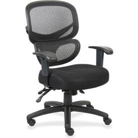 Lorell Mesh-Back Executive Chair, LLR60622, Fabric, Black
