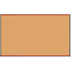 """Lorell Cork Board with Cherry Frame, 72""""W x 48""""H"""