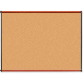 "Lorell Cork Board with Cherry Frame, 48""W x 36""H"