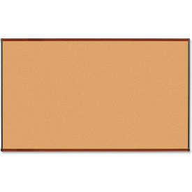"Lorell Cork Board with Mahogany Frame, 72""W x 48""H"