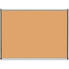 "Lorell Cork Board with Satin Frame, 48""W x 36""H"