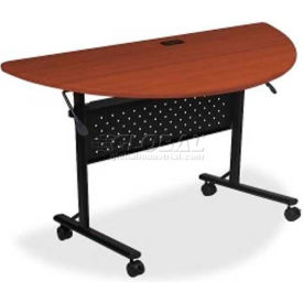 "Lorell Flipper Half Round Training Table - 48""L x 24""W x 29-1/2""H, Cherry"