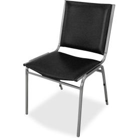 "Lorell® Padded Armless Stacking Chair, 20-3/4""W x 19-1/2""D x 35-5/8""H, Black, 4/Carton"
