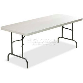 "Lorell® Ultra Light Banquet Folding Table, 96""L x 30""W x 29""H, Platinum"