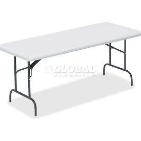 "Lorell® Ultra Light Banquet Folding Table, 60""L x 30""W x 29""H, Platinum"