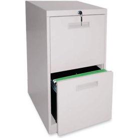 """Lorell® File/File Mobile Pedestal File, 15""""W x 23""""D x 28""""H, Putty"""