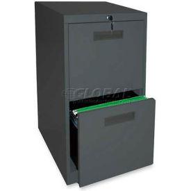 """Lorell® File/File Mobile Pedestal File, 15""""W x 23""""D x 28""""H, Charcoal"""