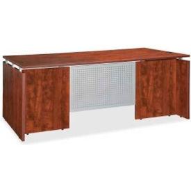 "Lorell® Executive Wood Desk - 60""W x 30""D x 29-1/2""H - Cherry - Ascent Series"