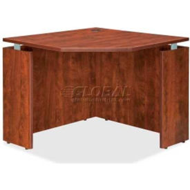 "Lorell® Corner Desk - 36""W x 36""D x 30""H - Cherry - Ascent Series"