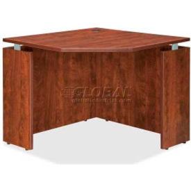 "Lorell® Corner Desk - 36""W x 36""D x 30""H - Cherry - Ascent Series"
