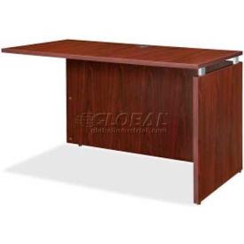 "Lorell® Return Desk - 35""W x 24""D x 29-1/5""H - Mahogany - Ascent Series"
