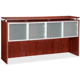 "Lorell® Hutch with Doors - 66""W x 15""D x 39-1/5""H - Mahogany - Ascent Series"