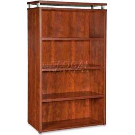 "Lorell® 4-Shelf Bookcase - 36""W x 12-1/2""D x 48""H - Cherry - Ascent Series"