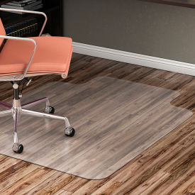 """Lorell® Hard Floor Office Chair Mat with Lip, 53""""L x 45""""W, Clear"""