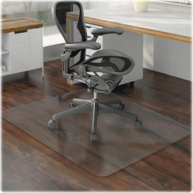 """Lorell® Office Chair Mat for Hard Floor -  60""""L x 46""""W - Straight Edge - Clear"""