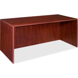"Lorell® 69000 Series Rectangular Desk Shell, 60""W x 30""D x 29-1/2""H, Mahogany"