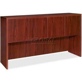 "Lorell® Hutch With Doors - 72""W x 15""D x 36""H - Mahogany - Essentials Series"