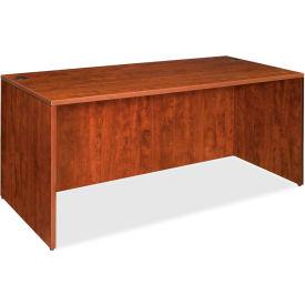 """Lorell® Rectangular Desk Shell - 47.3""""W x 23-2/3""""D x 29-1/2""""H - Cherry - Essentials Series"""