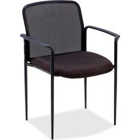 "Lorell® Reception Side Chair, 23-3/4""W x 23-1/2""D x 33""H, Black Fabric Seat/Mesh Back"