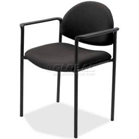 """Lorell® Reception Guest Chair, 23-3/4""""W x 23-1/2""""D x 30-1/2""""H, Black Fabric Seat"""