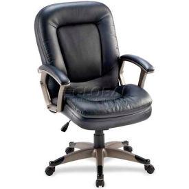 "Lorell® Mid-Back Management Chair, 27""W x 32-1/2""D x 43-1/2""H, Black"