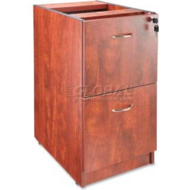 "Lorell® Pedestal - 16""W x 22""D x 28-1/4""H - Cherry - Essentials Series"