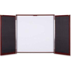 "Lorell Presentation Cabinet - Drywipe Whiteboard, Hinged Door w/Mahogany Frame, 47-1/3""W x 47-1/3""H"