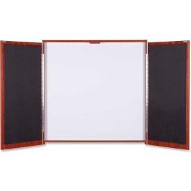 "Lorell Presentation Cabinet - Drywipe Whiteboard, Hinged Door w/Cherry Frame, 47-1/3""W x 47-1/3""H"
